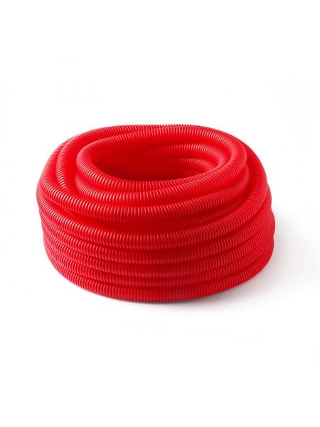 Труба защитная гофрированная для труб 16 мм (красный)