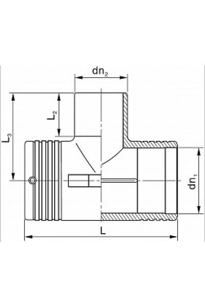 ROFITT (ET110/063/110) Э.С. Тройник переходной, PE100, SDR11, -110x63x110